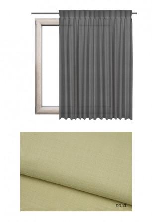 Zasłona na haczykach microfleks w tkaninie o beżowym odcieniu (DO13) z kolekcji DOMOWA OSTOJA na wymiar.
