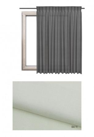 Zasłona na haczykach microfleks w tkaninie o ecru odcieniu (DO11) z kolekcji DOMOWA OSTOJA na wymiar.
