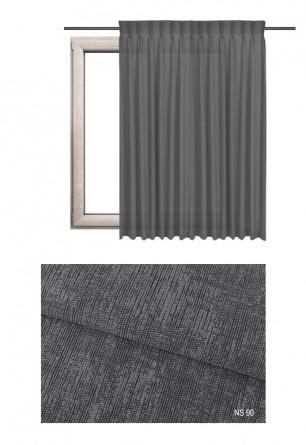 Zasłona na haczykach microfleks w zaciemniającej tkaninie o szarym odcieniu (NS90) z kolekcji NA SALONACH na wymiar.