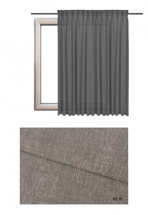 Zasłona na haczykach microfleks w zaciemniającej tkaninie o brązowym odcieniu (NS18) z kolekcji NA SALONACH na wymiar.
