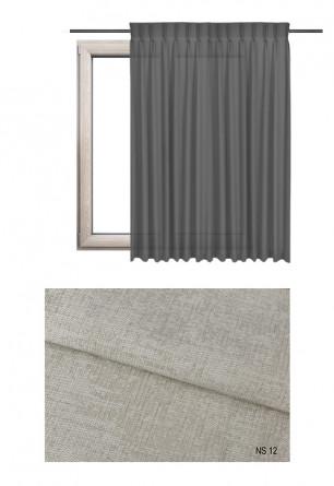 Zasłona na haczykach microfleks w zaciemniającej tkaninie o beżowym odcieniu (NS12) z kolekcji NA SALONACH na wymiar.