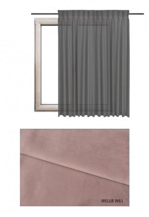 Zasłona na haczykach microfleks w tkaninie o fioletowym odcieniu (W61) z kolekcji WELUR na wymiar.