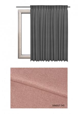 Zasłona na haczykach microfleks w tkaninie o odcieniu różowym (D45) z kolekcji DIMOUT na wymiar.