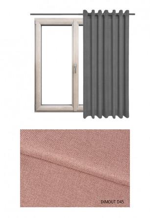 Zasłona typu blackout na kołach w tkaninie o odcieniu różowym (D45) z kolekcji DIMOUT na wymiar.