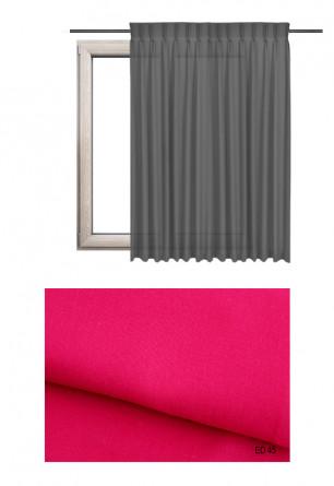 Zasłona na haczykach microfleks w gładkiej lekko błyszczącej tkaninie o różowym odcieniu kolorystycznym (ED45) na wymiar.