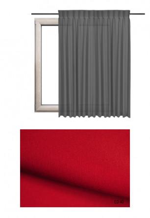 Zasłona na haczykach microfleks w gładkiej lekko błyszczącej tkaninie o czerwonym odcieniu kolorystycznym (ED40) na wymiar.