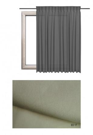 Zasłona na haczykach microfleks w gładkiej lekko błyszczącej tkaninie o beżowym odcieniu kolorystycznym (ED17) na wymiar.