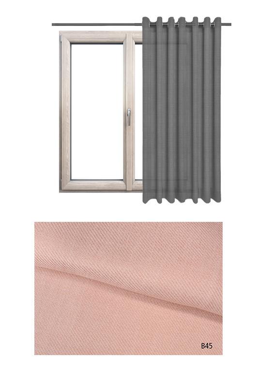 Zasłona na kołach o różowym odcieniu kolorystycznym BOHO B45 na wymiar