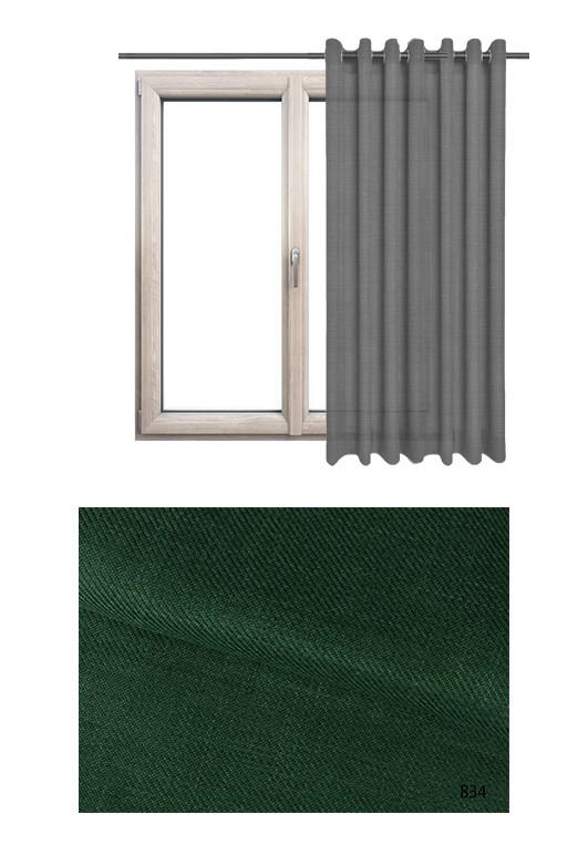 Zasłona na kołach o zielonym odcieniu kolorystycznym BOHO B34 na wymiar