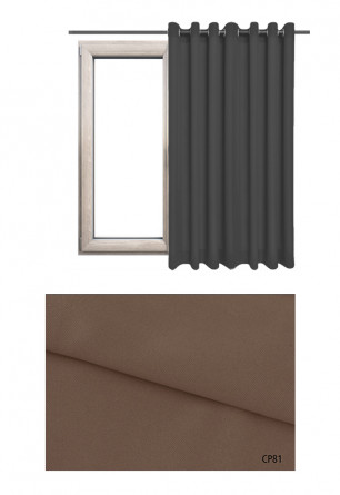 Zasłona na kołach 100% zaciemniająca w brązowym odcieniu (CP81) z kolekcji CICHA PRZYSTAŃ na wymiar
