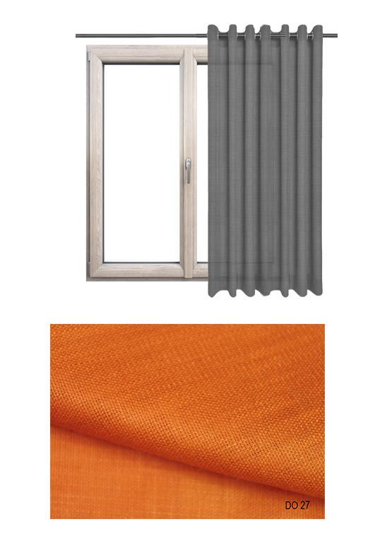 Zasłona na kołach o naturalnym splocie w odcieniu pomarańczowym (DO27) z kolekcji DOMOWA OSTOJA na wymiar