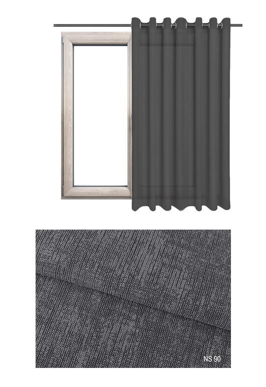 Zasłona zaciemniająca na kołach o szarym odcieniu (NS90) z kolekcji NA SALONACH na wymiar