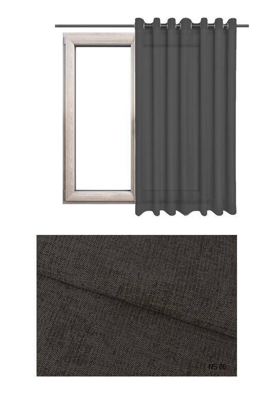Zasłona zaciemniająca na kołach o brązowym odcieniu (NS86) z kolekcji NA SALONACH na wymiar