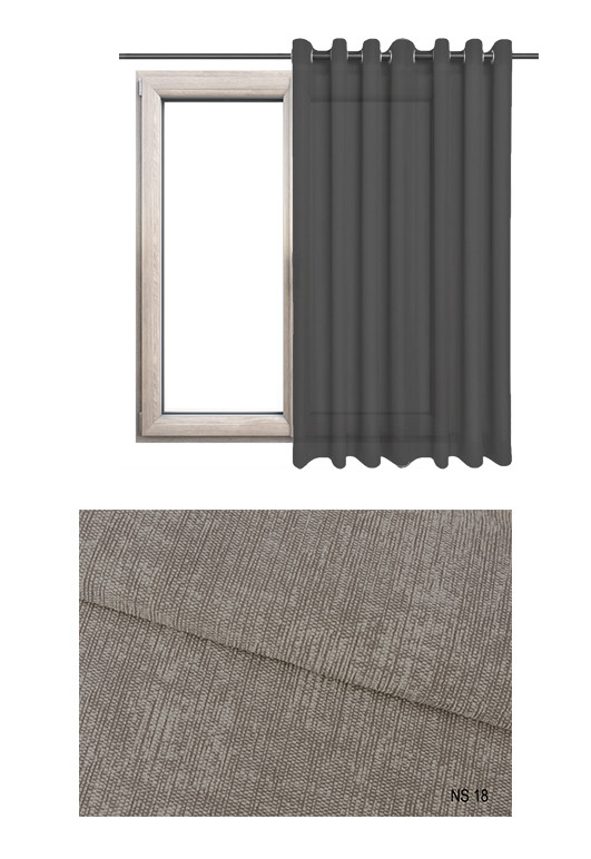 Zasłona zaciemniająca na kołach o brązowym odcieniu (NS18) z kolekcji NA SALONACH na wymiar