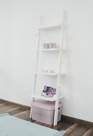 Biała drabinka dekoracyjna półeczka BALBINKA 40x130