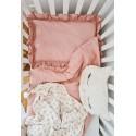 Poszewka na poduszkę niemowlęcą BRUDNY RÓŻ