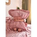 Poszewka na poduszkę z falbaną 70x80 BRUDNY RÓŻ