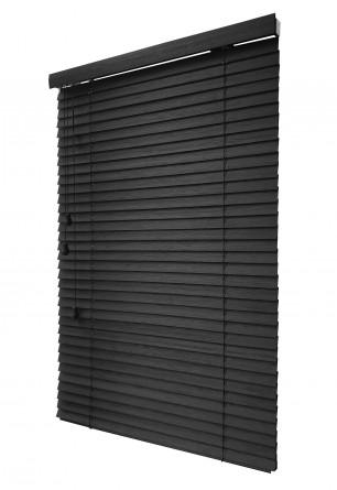 Bambusowa Żaluzja 50mm w kolorze arabika (czarny mat) wykonywana na wymiar - Nasze Domowe Pielesze