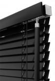 Żaluzje drewniane 25mm na wymiar w kolorze czarnym - LUKRECJA.