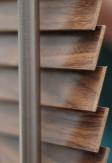 Żaluzja drewniana 25mm na wymiar w kolorze GORCZYCA (złoty dąb).