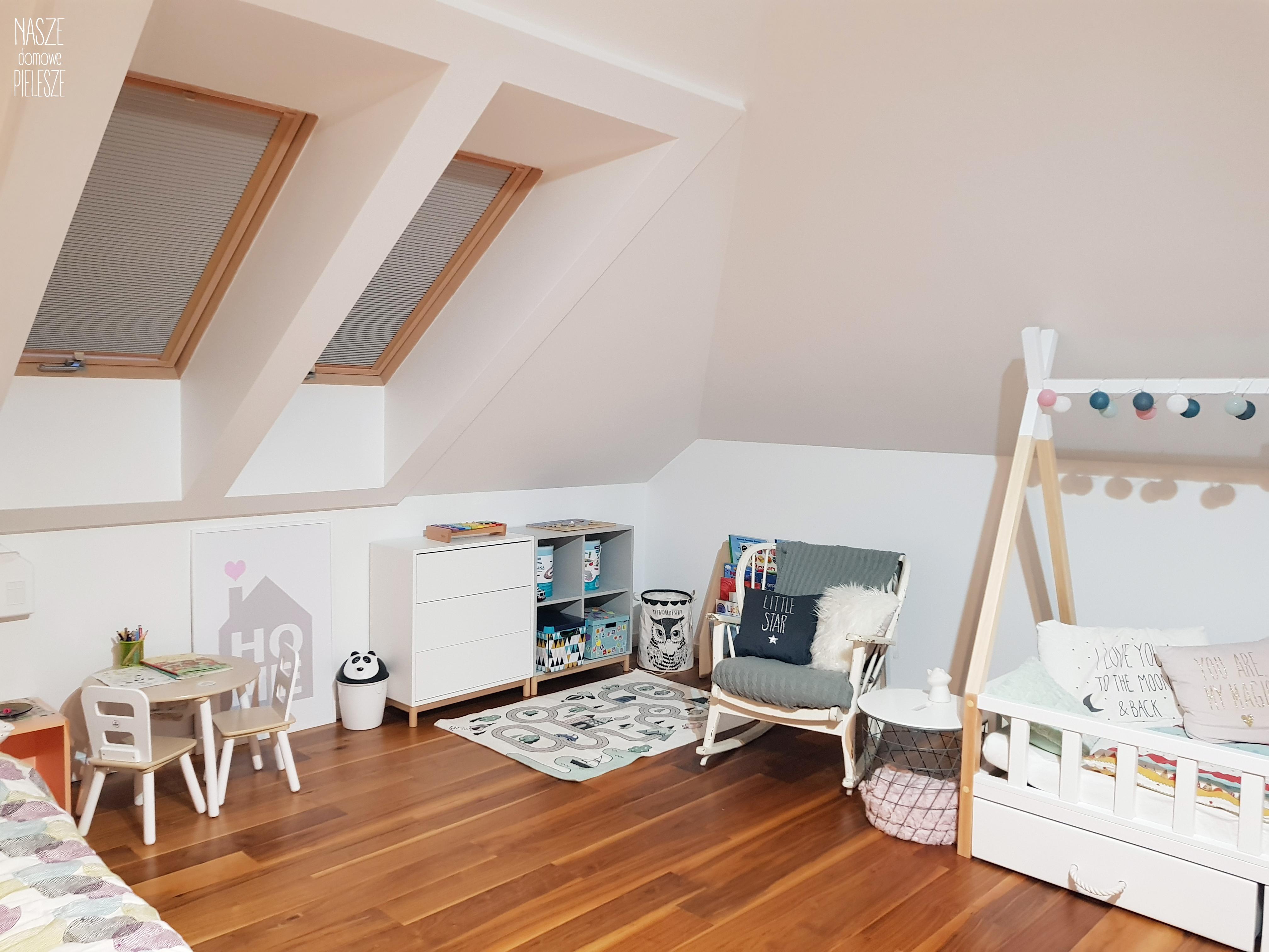 plisy na oknie dachowym pokój dziecka