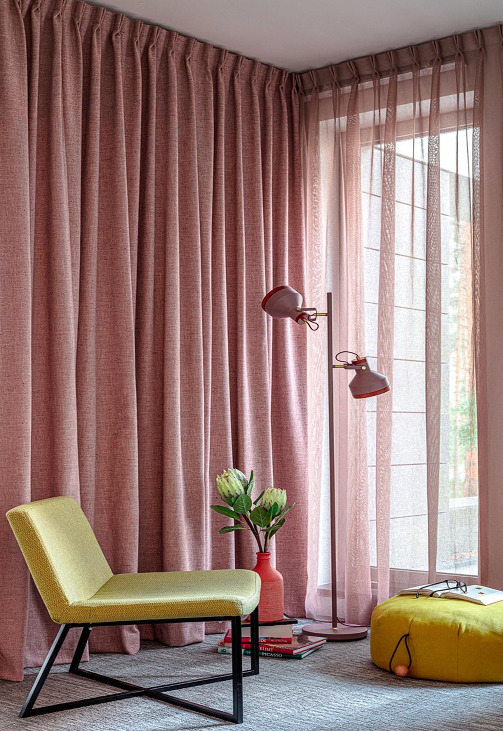 zaslona i firana różowa nasze domowe pielesze