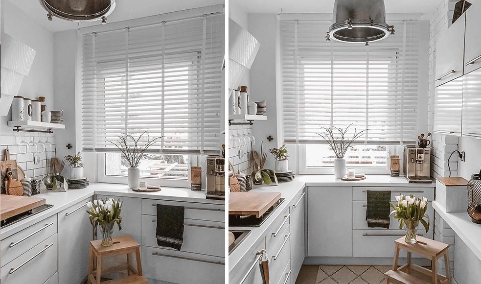 białe żaluzje w kuchni nasze domowe pielesze