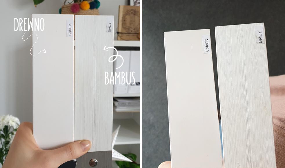 Porównanie wyglądu lameli drewnianych i bambusowych