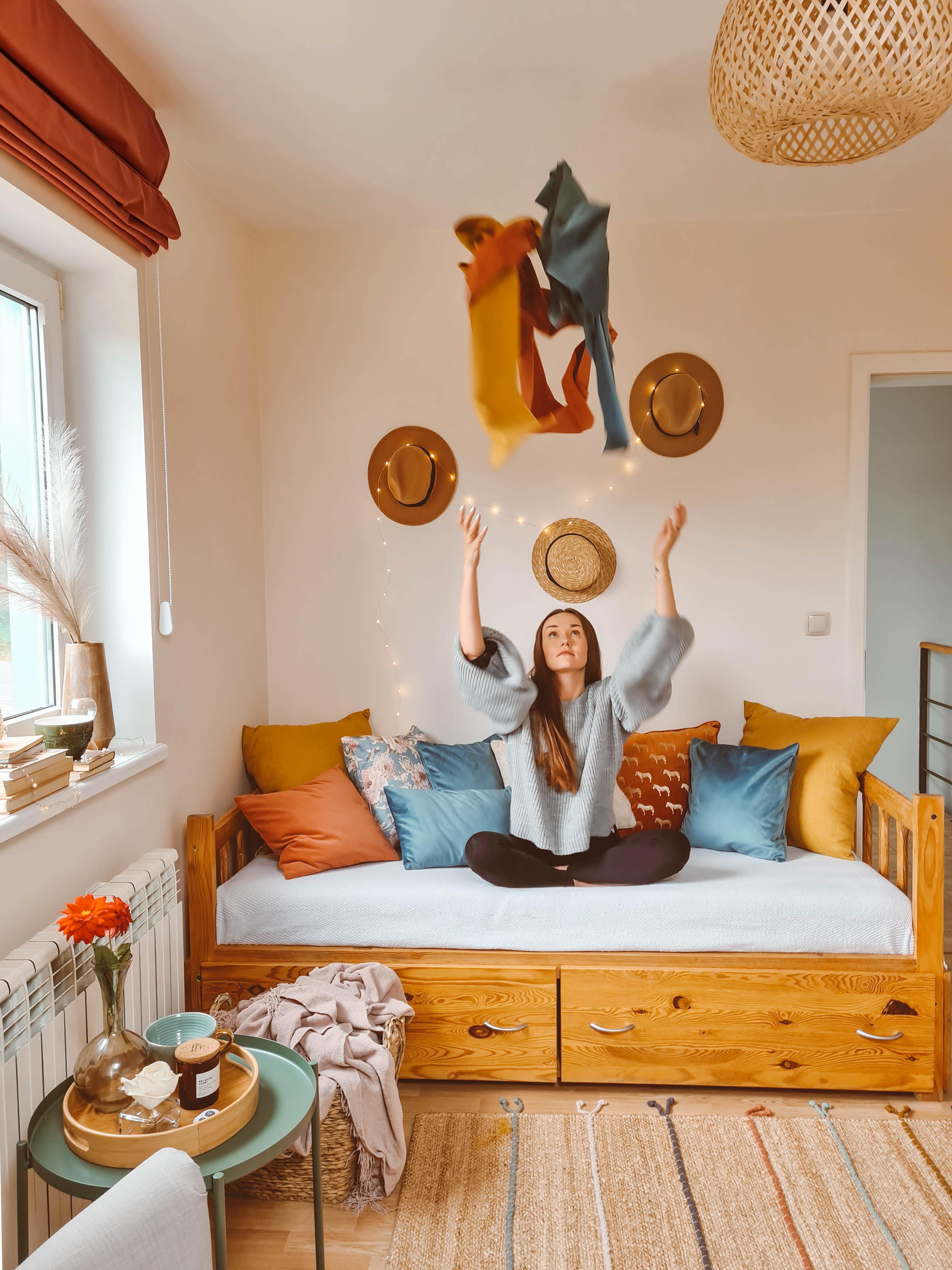 pokoj w stylu boho pszewki poduszki nasze domowe pielesze