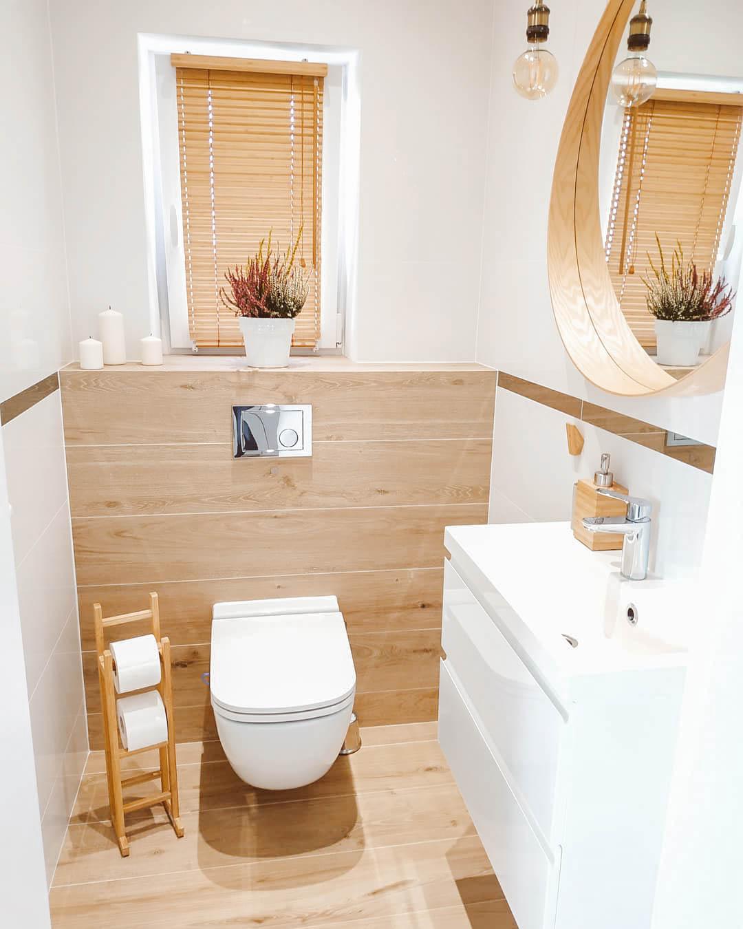 żaluzja bambusowa w łazience