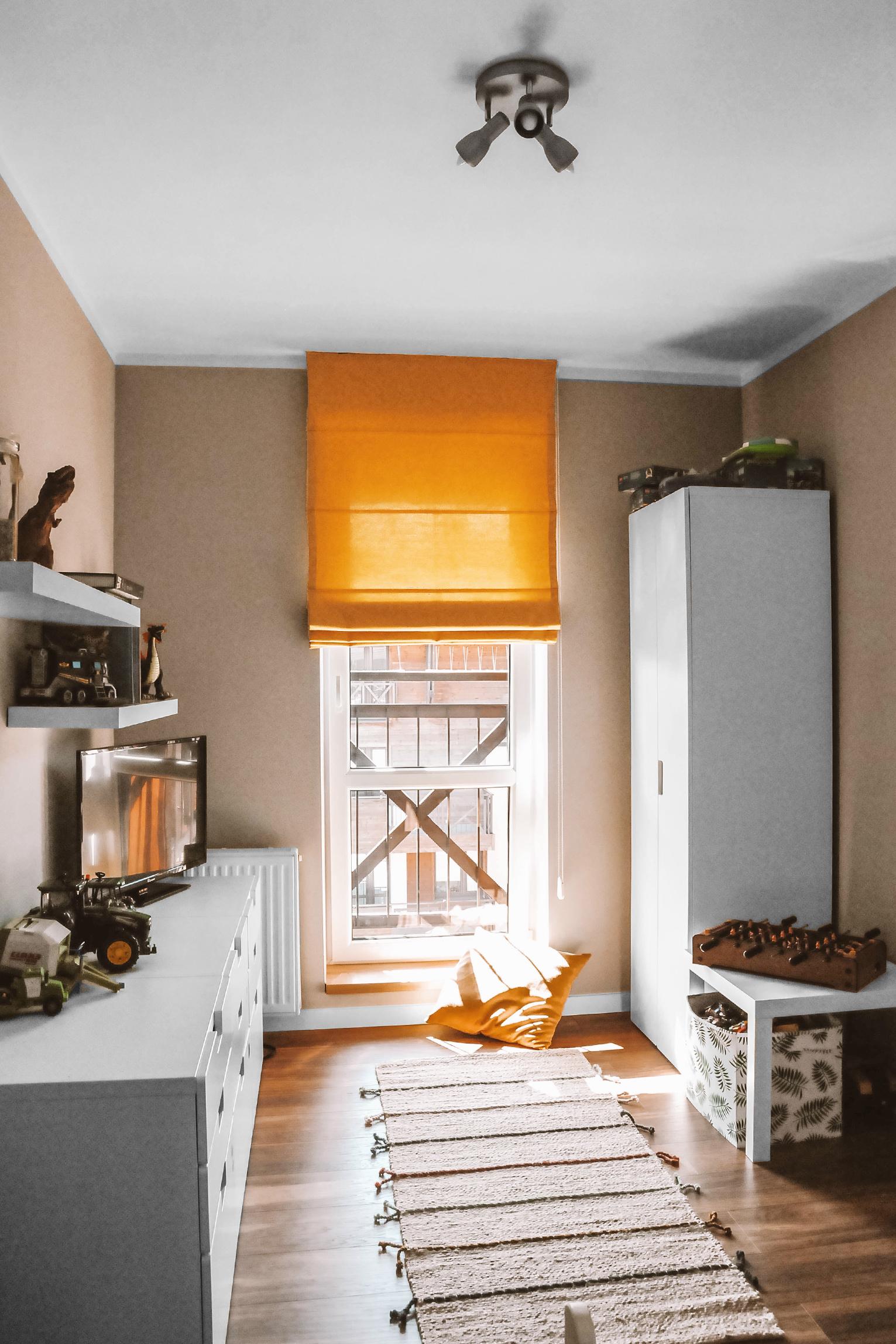 żółta roleta rzymska nasze domowe pielesze