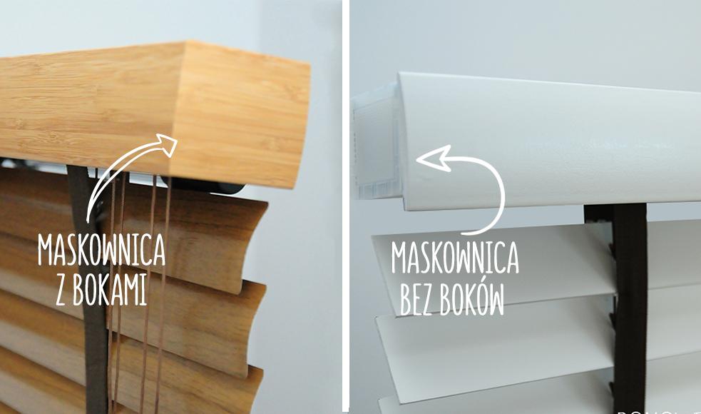 maskownica z bokami i bez boków do żaluzji drewnianych i bambusowych